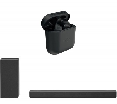 Save £70 at Currys on SKULLCANDY Indy Wireless Bluetooth Earphones & LG SN7Y 3.1.2 Wireless Sound Bar Bundle