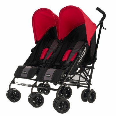 Save £26 at Argos on Obaby Apollo Black and Grey Double Pushchair - Red