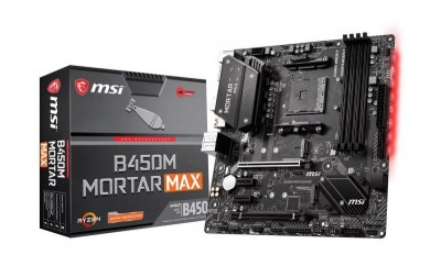 Save £11 at Ebuyer on MSI Ryzen B450M MORTAR MAX AM4 mATX Motherboard