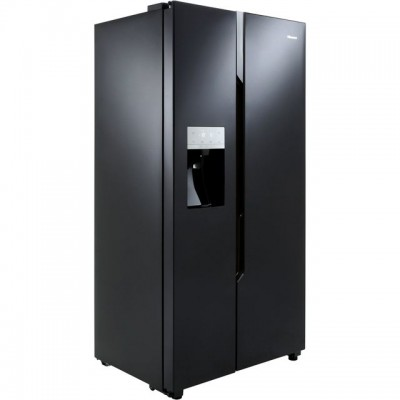 Save £100 at AO on Hisense RS694N4TB1 American Fridge Freezer - Black - A+ Rated