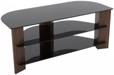 Save £21 at Argos on AVF Up To 55 Inch TV Stand - Black Glass and Walnut Effect