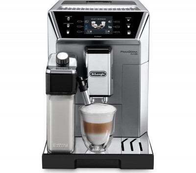 Save £365 at Currys on DELONGHI Prima Donna Class ECAM550.75.MS Smart Bean to Cup Coffee Machine - Silver, Silver