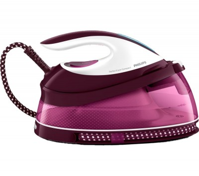Save £101 at Currys on PHILIPS PerfectCare Compact GC7808/40 Steam Generator Iron - Dark Red, Red