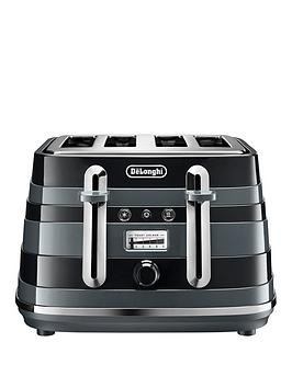 Save £20 at Very on Delonghi Avvolta Class Ctac4003.Bk 4 Slice Toaster - Black