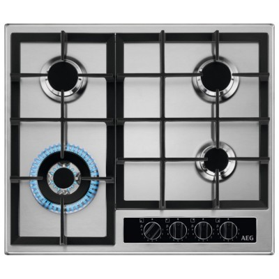 Save £40 at Appliance City on AEG HGB64420YM 60cm 4 Burner Gas Hob - STAINLESS STEEL