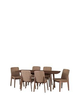 Save £80 at Very on Julian Bowen Kensington 150 - 194 Cm Solid Wood Extending Dining Table + 6 Chairs