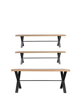 Save £200 at Very on K-Interiors Waverton 180 Cm Dining Table + 2 Benches
