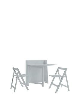 Save £30 at Very on Julian Bowen Helsinki Ready Assembled Space Saver Dining Table + 2 Chairs - Grey