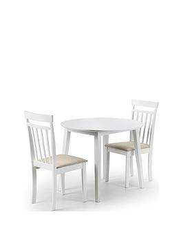 Save £30 at Very on Julian Bowen Coast 90 Cm Drop Leaf Dining Table + 2 Chairs