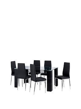 Save £100 at Very on Julian Bowen Set Of Greenwich Dining Table & 6 Greenwich Chairs