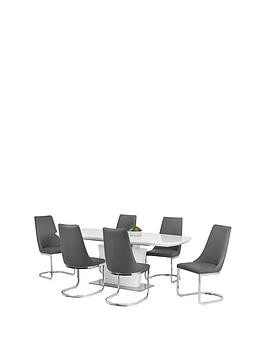 Save £200 at Very on Julian Bowen Como 200 Cm Extending Dining Table + 6 Como Chairs