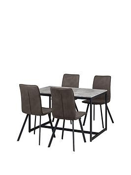 Save £50 at Very on Julian Bowen Staten 120 Cm Dining Table + 4 Monroe Chairs