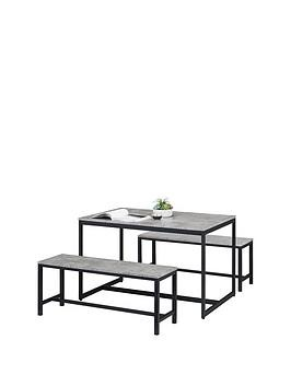 Save £40 at Very on Julian Bowen Staten 120 Cm Dining Table + 2 Benches