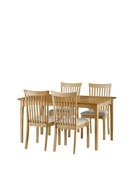 Save £50 at Very on Julian Bowen Ibsen 150 - 190 Cm Extending Dining Table + 4 Chairs