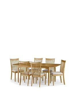 Save £70 at Very on Julian Bowen Ibsen 150 - 190 Cm Extending Dining Table + 6 Chairs