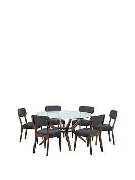 Save £100 at Very on Julian Bowen Chelsea Large 140 Cm Circular Dining Table + 6 Farringdon Chairs