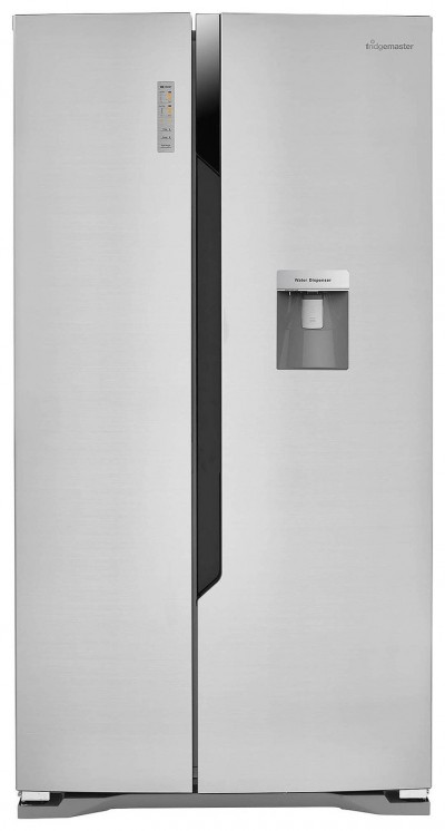 Save £70 at Argos on Fridgemaster MS91515DFF American Fridge Freezer - Silver