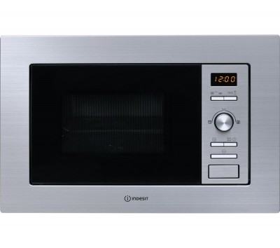 Save £20 at Currys on INDESIT MWI 122.2 X Built-in Microwave with Grill - Silver, Silver