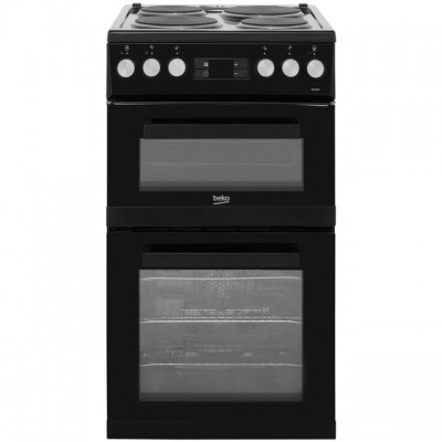 Save £49 at AO on Beko KDV555AK 50cm Electric Cooker with Solid Plate Hob - Black - A/A Rated