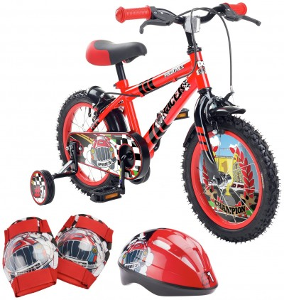 Save £10 at Argos on Pedal Pals Racer 14 inch Kids Bike, Helmet and Knee Pads