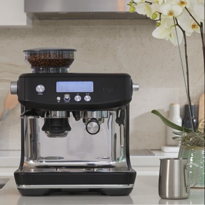 Save £100 at AO on Sage The Barista Pro™ SES878BTR Espresso Coffee Machine with Integrated Burr Grinder - Black Truffle