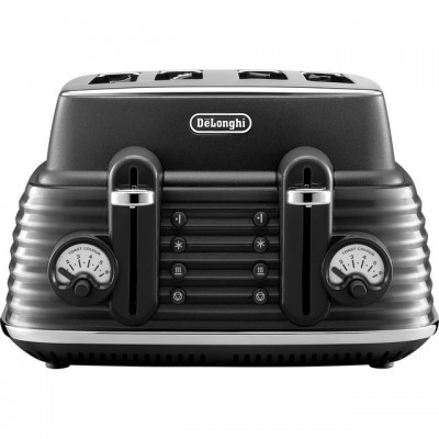 Save £26 at AO on De'Longhi Scolpito CTZS4003.BK 4 Slice Toaster - Black Granite
