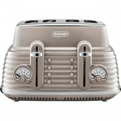 Save £20 at AO on De'Longhi Scolpito CTZS4003.BG 4 Slice Toaster - Beige