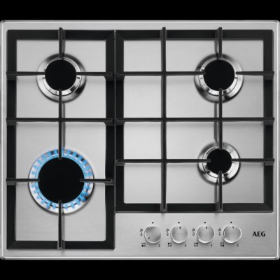 Save £50 at AO on AEG HGB64200SM 60cm Gas Hob - Stainless Steel