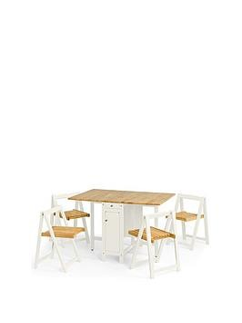Save £22 at Very on Julian Bowen Savoy 120 Cm Space Saver Dining Table + 4 Chairs