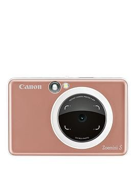 Save £61 at Very on Canon Canon Zoemini S Pocket Size 2-In-1 Instant Camera Printer (Rose Gold) + App - Zoemini C Instant Camera With 60 Pack Paper