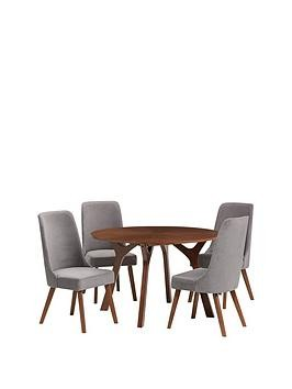 Save £60 at Very on Julian Bowen Huxley 120 Cm Round Dining Table And 4 Chairs