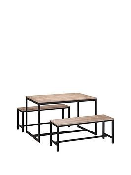 Save £22 at Very on Julian Bowen Tribeca 120 Cm Dining Table + 2 Benches