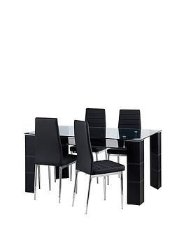 Save £40 at Very on Julian Bowen Set Of Greenwich Dining Table & 4 Greenwich Chairs