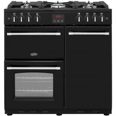Save £210 at AO on Belling Farmhouse90G 90cm Gas Range Cooker with Electric Fan Oven - Black - B/A Rated