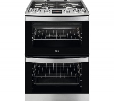 Save £100 at Currys on AEG CGB6130ACM 60 cm Gas Cooker û Stainless Steel & Black, Stainless Steel