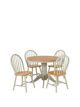 Save £50 at Very on New Kentucky 100 Cm Round Dining Table + 4 Chairs