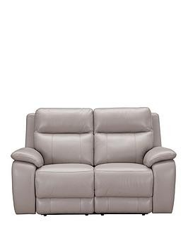 Save £150 at Very on Colby Real Leather/Faux Leather 2 Seater Power Recliner Sofa