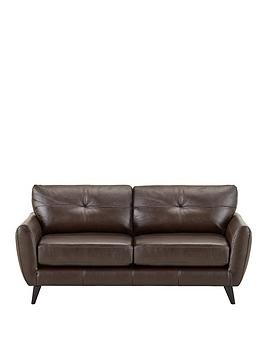 Save £300 at Very on Boston Leather 3 Seater Sofa