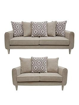Save £400 at Very on Mylo Fabric 3 Seater + 2 Seater Scatter Back Sofa Set (Buy And Save!)