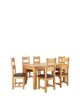 Save £110 at Very on Oakland 170Cm Solid Wood Dining Table + 6 Oakland Chairs