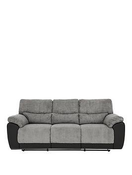 Save £100 at Very on Sienna Fabric/Faux Leather 3 Seater Recliner Sofa