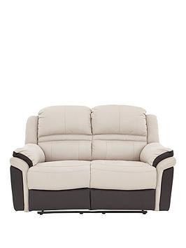 Save £100 at Very on Petra Fabric And Faux Leather 2 Seater Manual Recliner Sofa