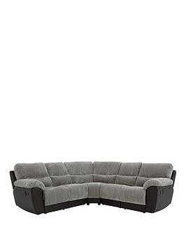 Save £300 at Very on Sienna Fabric/Faux Leather Recliner Corner Group Sofa