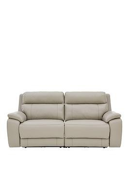 Save £150 at Very on Colby Real Leather/Faux Leather 3 Seater Power Recliner Sofa