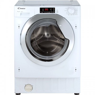 Save £61 at AO on Candy CBWM814DC Integrated 8Kg Washing Machine with 1400 rpm - White / Chrome - A+++ Rated