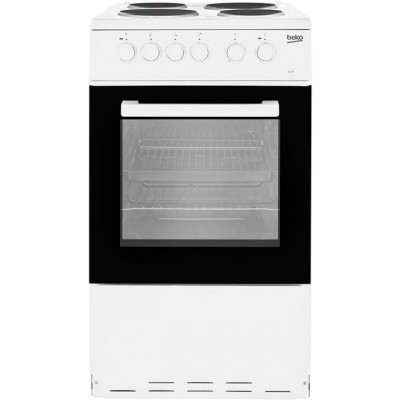 Save £80 at AO on Beko KS530W 50cm Electric Cooker with Solid Plate Hob - White - A Rated