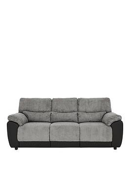 Save £80 at Very on Sienna Fabric/Faux Leather Static 3 Seater Sofa