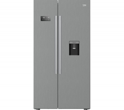 Save £101 at Currys on Beko ASDM241PX Fridge Freezer - Steel American-Style, Brushed Steel