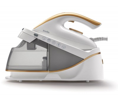 Save £10 at Currys on BREVILLE PressXpress VIN410 Steam Generator Iron - White & Gold, White