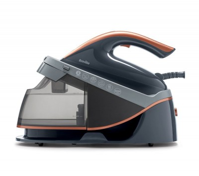 Save £50 at Currys on BREVILLE PressXpress VIN411 Steam Generator Iron - Grey & Rose Gold, Grey